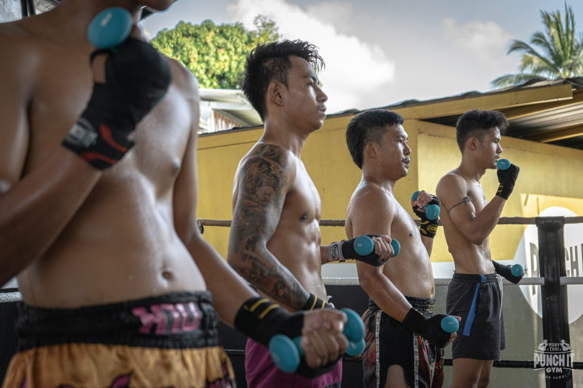 Muaythai fighters in Thailand at the abyss